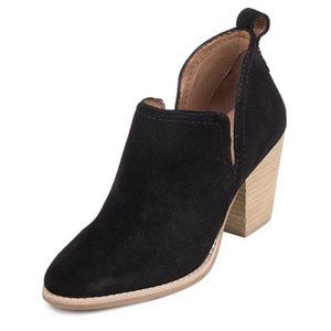 New JEFFREY CAMPBELL Black Suede Ankle Booties
